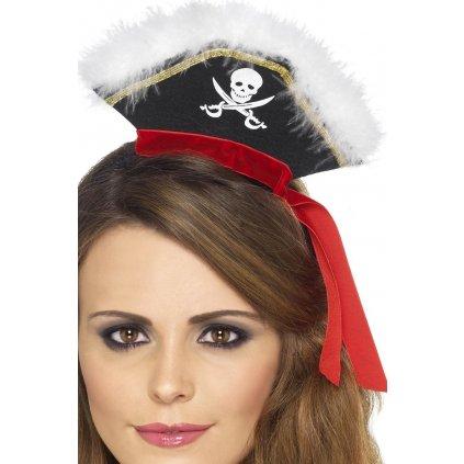 Mini pirátský klobouk