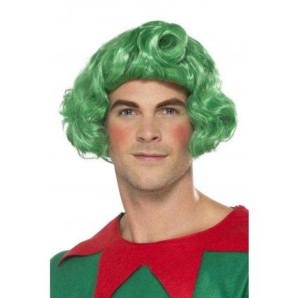 Zelená paruka Elf
