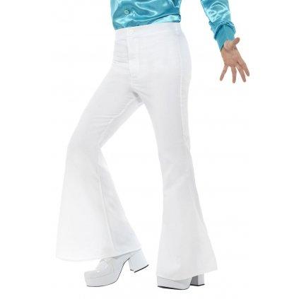Pánské retro kalhoty bílé karneval 70. léta