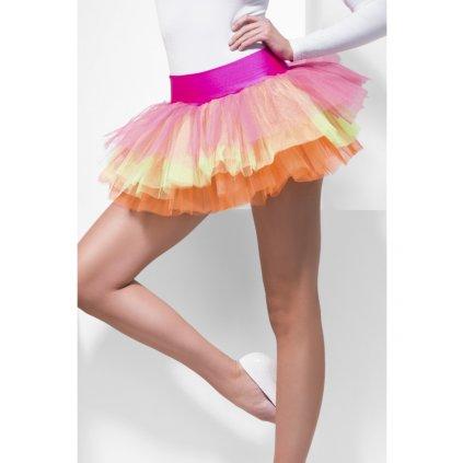 Řasená sukně tutu barevná