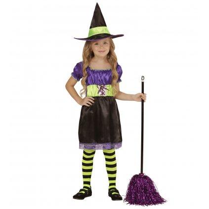 kostým čarodějnice dívčí krátký