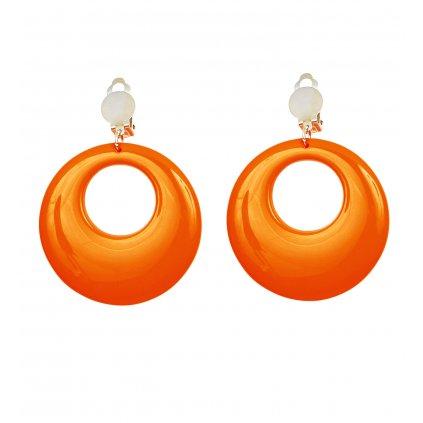 oranžové náušnice