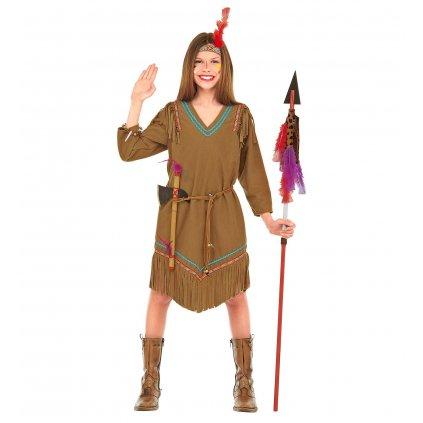 dívčí kostým indiánka