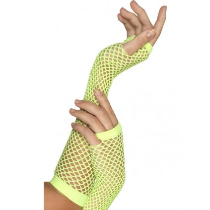 Síťované rukavice bez prstů zelené