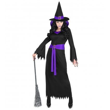 dámský kostým čarodějka fialovočerný