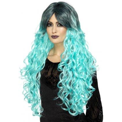 modrošedá paruka Gothic