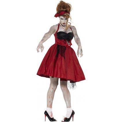 zombie šaty puntíkaté