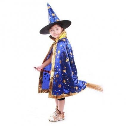 Kouzelnický plášť a klobouk čaroděj