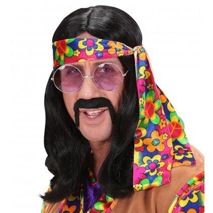 pánská hippies paruka černá