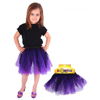 fialová tutu sukně čarodějnice