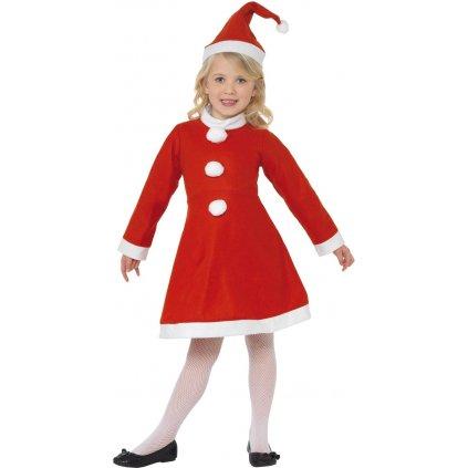 dívčí kostým Santa