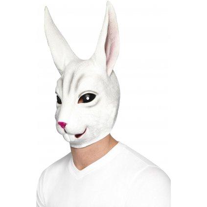gumová maska králík
