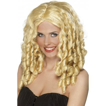 blond paruka s loknami