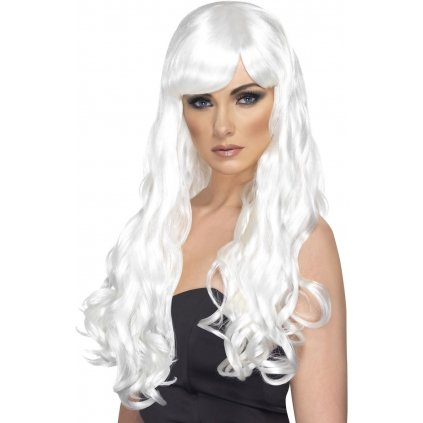 dámská bílá paruka vlnitá Desire