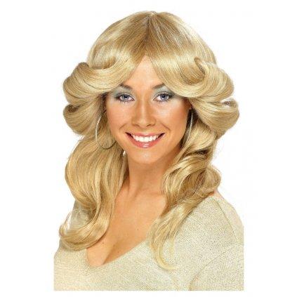 dámská blond paruka 70. léta