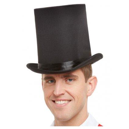 černý klobouk cylindr deluxe