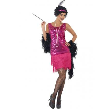 Kostým 30. léta růžové šaty