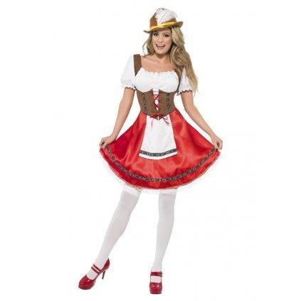 Dámský kostým Oktoberfest červený