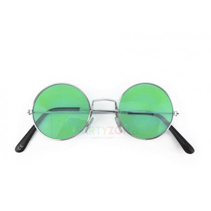 zelené lenonky hippies bryle