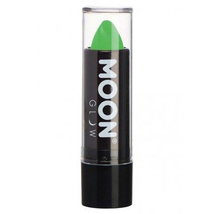 zelená UV rtěnka
