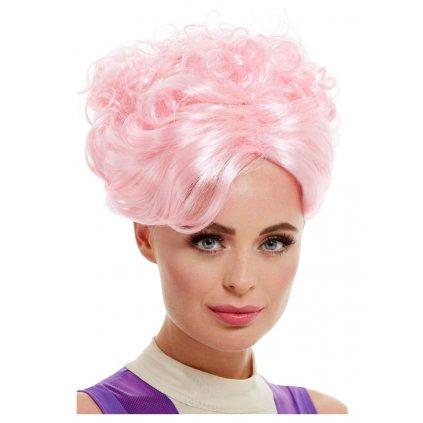 Růžová paruka dámská  Velký Showman
