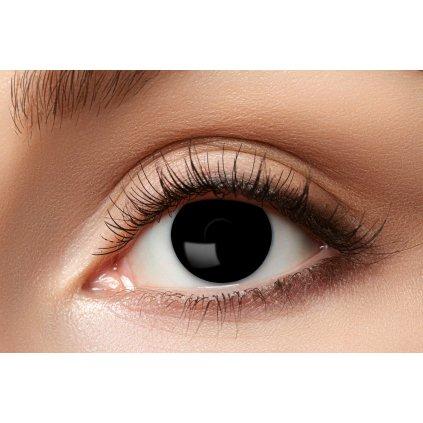 Nedioptrické kontaktní čočky černé roční
