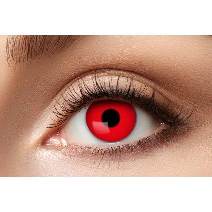 Nediptrické kontaktní čočky červené roční