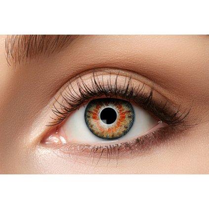 Nedioptrické kontaktní čočky světle oranžové roční
