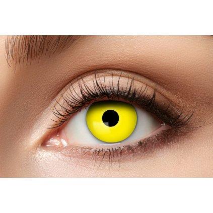 Nedioptrické kontaktní čočky žluté roční