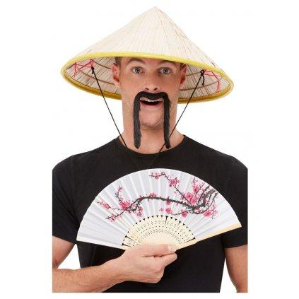 Čínský klobouk a vějíř