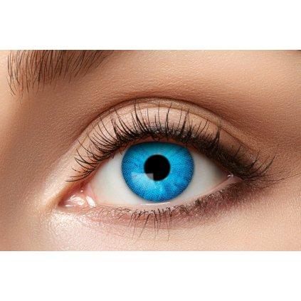 Nedioptrické kontaktní čočky modré roční