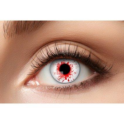 Nedioptrické kontaktní čočky krvavé roční