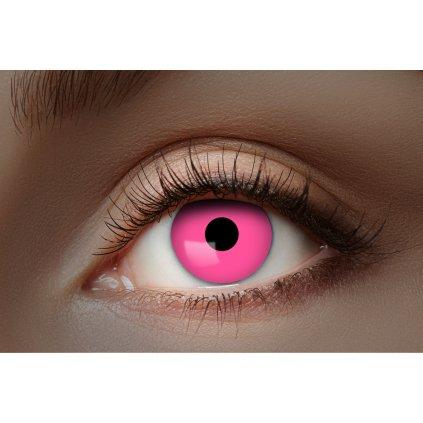 Kontaktní čočky červené UV roční