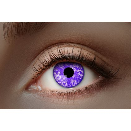 Kontaktní čočky fialové UV vzorované roční