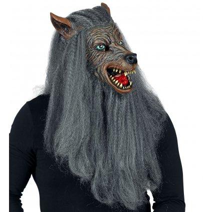 maska vlkodlak s vlasy