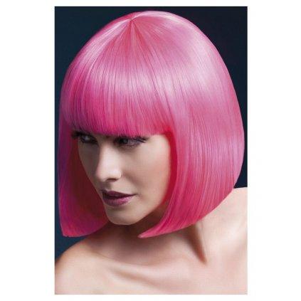 růžová paruka kvalitní Elise neon