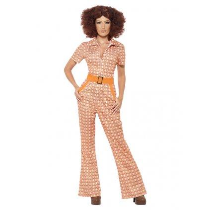Dámský kostým 70. léta oranžový