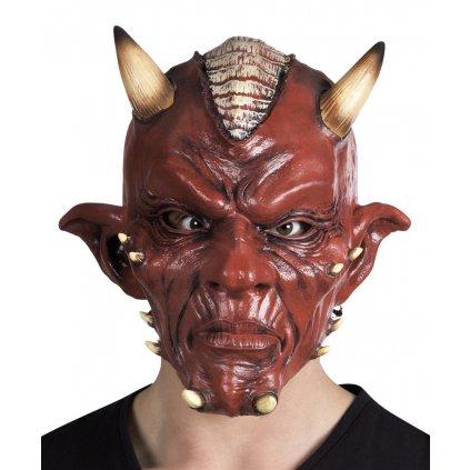 Gumová maska čerta partyzon