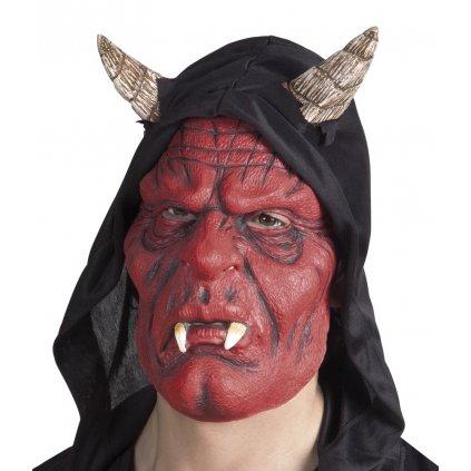Čertovská maska s kapucí