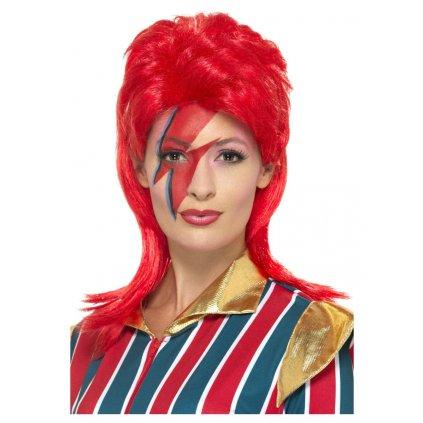 Červená paruka David Bowie 80. léta