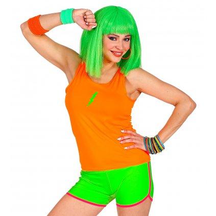 zelené neonové šortky
