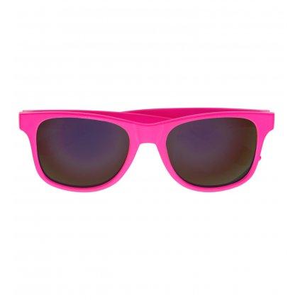 Neonově růžové brýle 80´ s revo skly