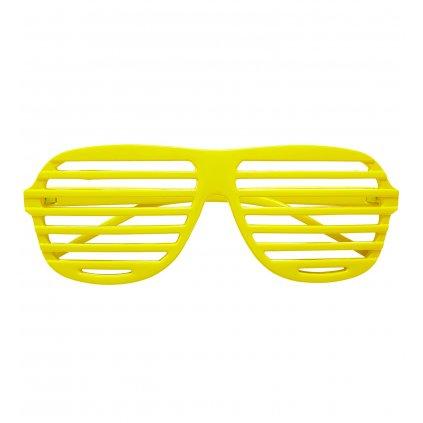 Neonově žluté brýle mřížka