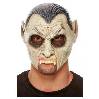 Latexová maska drákula