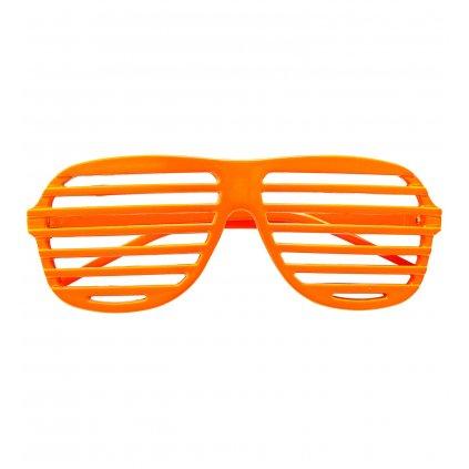 Neonově oranžové brýle s mřížkou