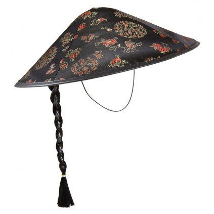 Čínský klobouk s copem