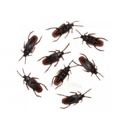 Dekorace umělí švábi 8ks