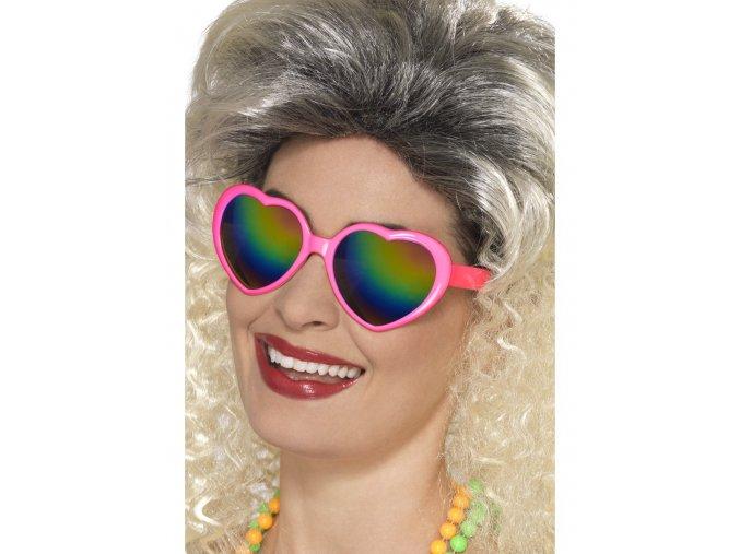 Retro brýle srdce 80. léta