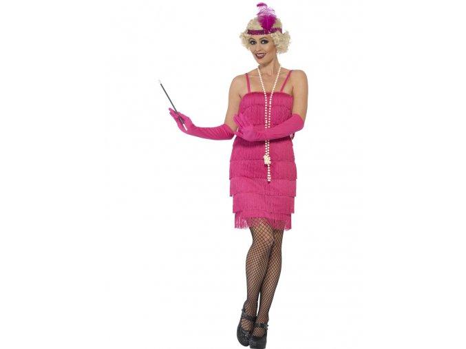 Flapper šaty 30. léta růžové