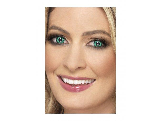 Halloween crazy kontaktní čočky zelené